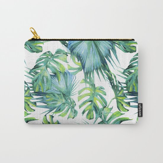 Blue Jungle Leaves, Monstera, Palm #society6 by wheimay