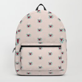 A Warm Place in Your Heart - Seafoam Green & Cotton Candy Pink Backpack