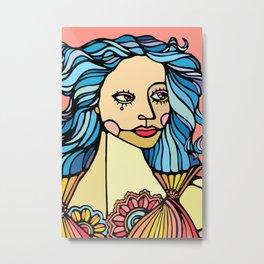 B Girl Metal Print