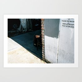 Man around the corner Art Print