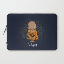 Be Happy Little Buddha Laptop Sleeve