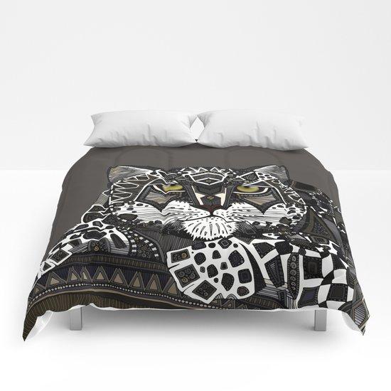 snow leopard lead Comforters