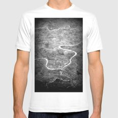 Rivers of India MEDIUM White Mens Fitted Tee