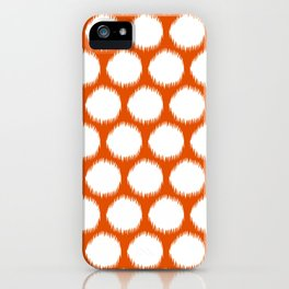 Persimmon Asian Moods Ikat Dots iPhone Case