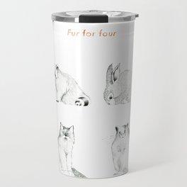 Fur For Four Travel Mug