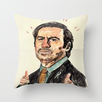 better call saul Throw Pillows featuring saul! by withapencilinhand
