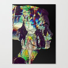 Glitched Girl Canvas Print