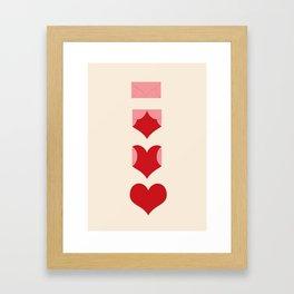 Love Lettre Framed Art Print