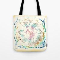 mermaid Tote Bags featuring Mermaid by famenxt