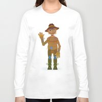oz Long Sleeve T-shirts featuring OZ - Scarecrow by Drybom