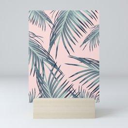 Blush Palm Leaves Dream #1 #tropical #decor #art #society6 Mini Art Print