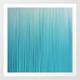 Abstract Modern Teal Ivory Gradient Brushstrokes Art Print