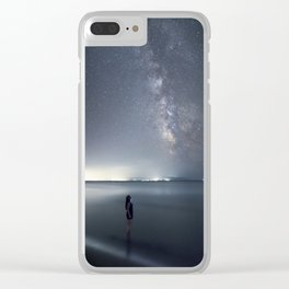 Observing Milky Way from the sea Clear iPhone Case