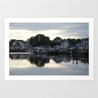 boats Art Prints featuring boats by thomsjohns