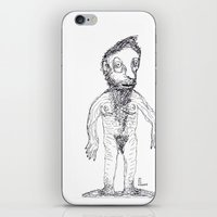 jewish iPhone & iPod Skins featuring Hairy Jewish Man Who Was Born With Alligator Feet by Josh Florence