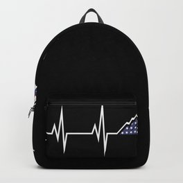 USA Mountain Heart rate curve Backpack
