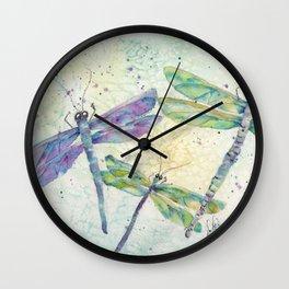 Xena's Dragonfly Wall Clock