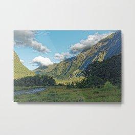 Monkey Creek, New Zealand Landscape Metal Print