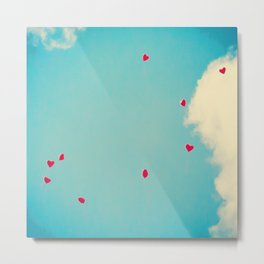 Red Dots Of Love Metal Print