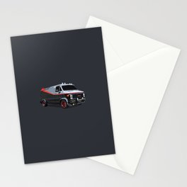 The A Team van illustration Stationery Cards