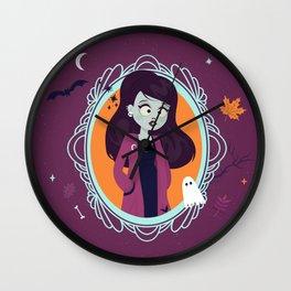 Halloween Girl Wall Clock