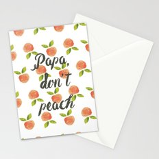 Papa Don't Peach  Stationery Cards