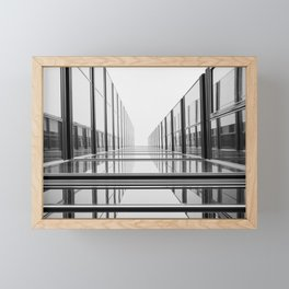 Abstract architecture | Cologne Germany travel photography | Black and white fine art photo print  Framed Mini Art Print