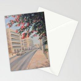 Eilat street Tel aviv_ Oil on canvas Stationery Cards