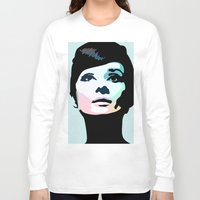 posters Long Sleeve T-shirts featuring Audrey Hepburn Posters by Creativehelper