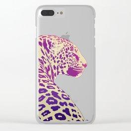 Leopard under the Sun Clear iPhone Case