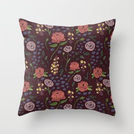 Vintage Peony Throw Pillow