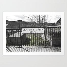 Granny's Green Steps Art Print