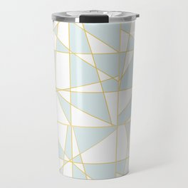 Abstract Blue Travel Mug