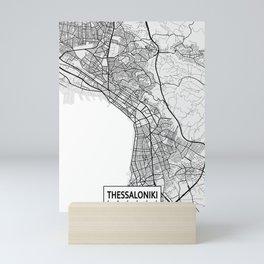 Thessaloniki City Map of Greece - Light Mini Art Print