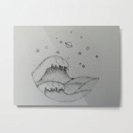 Space Wave Metal Print