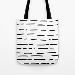 Hand Drawn Dashed Lines Tote Bag