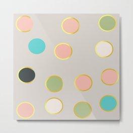 gold and tutti fruit polka dots Metal Print