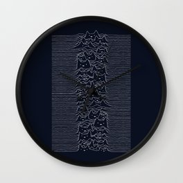 Furr Division Cats (Dark Blue) Wall Clock