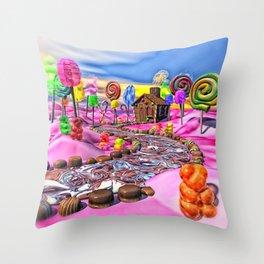 Pink Candyland Throw Pillow