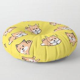 Mustard Shiba Floor Pillow