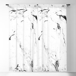White Marble #society6 #decor #buyart Blackout Curtain