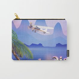 Cambodia vintage flight poster Carry-All Pouch