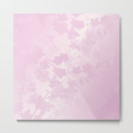 Transparent Floral Pink Metal Print