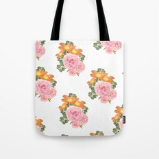 Summer Floral Print Tote Bag