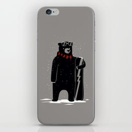 Bear on snowboard iPhone Skin