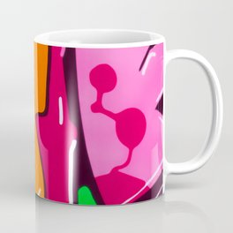 In the street No3 Orange Graffiti Coffee Mug