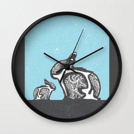 2 Rabbits Wall Clock