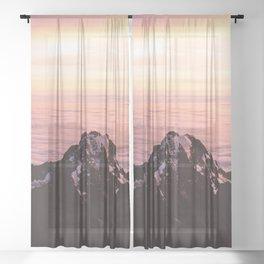 Mountain sunrise - A dreamy landscape Sheer Curtain