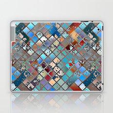 Grunge Rainbow Diamond Pattern Laptop & iPad Skin
