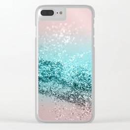 Tropical Summer Vibes Glitter #2 #decor #art #society6 Clear iPhone Case